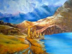 Picturi cu peisaje Mountain pathway