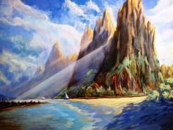 Picturi cu peisaje Na pali coast peaks - hawaii