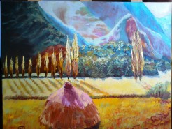 Picturi cu peisaje Summer heat in carpathians