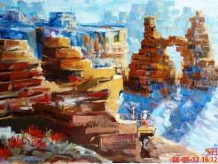 Picturi cu peisaje Washer woman arch