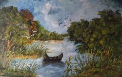 Picturi cu peisaje Peisaj din Delta.