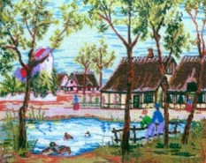 Picturi cu peisaje In sat