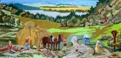 Picturi cu peisaje La adunat