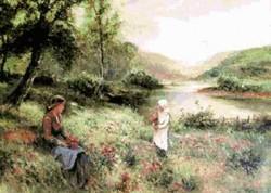 Picturi cu peisaje Mama,te iubesc
