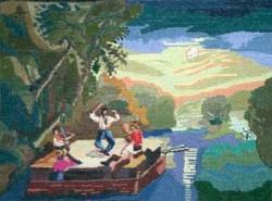 Picturi cu peisaje Plutasii pe mississipi