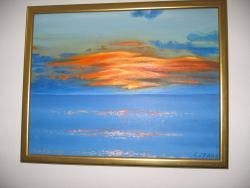 Picturi cu peisaje Apus de soare la ocean