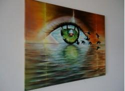 Picturi cu peisaje Ochi pe ,,apa,,