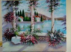 Picturi cu peisaje Terasa de pe lac