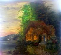 Picturi cu peisaje Apus de vara
