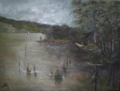 Picturi cu peisaje Lacul