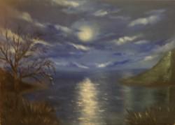 Picturi cu peisaje Luna plina