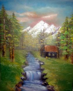 Picturi cu peisaje mountain landscape