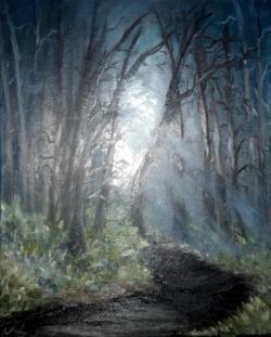Picturi cu peisaje noapte de septembrie