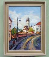Picturi cu peisaje Biserica evanghelica -sibiu