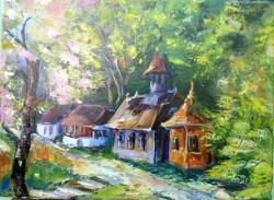 Picturi cu peisaje Schitul in carare