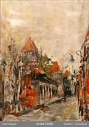 Picturi cu peisaje Strada cetatii