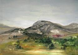 Picturi cu peisaje Satul din vale