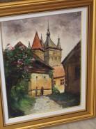 Picturi cu peisaje Citadina sibiana