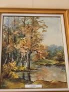 Picturi cu peisaje Peisaj de toamna cu lac