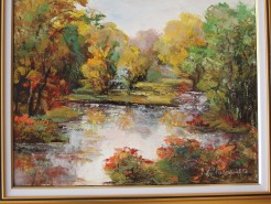 Picturi cu peisaje Peisaj de toamna in delta