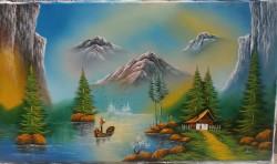 Picturi cu peisaje Pescarul