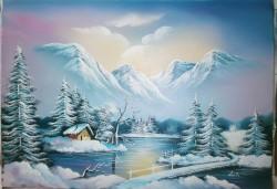 Picturi cu peisaje Tablou de iarna
