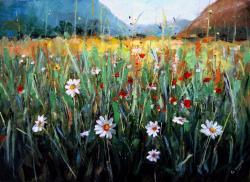 Picturi cu peisaje Campul Inflorit