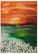 Picturi cu peisaje Stralucind in noapte