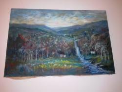 Picturi cu peisaje semnat Ioan Matasareanu