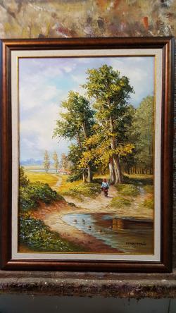 Picturi cu peisaje de dimineata