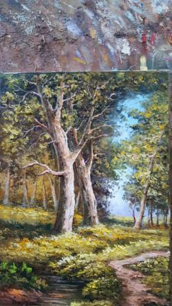 Picturi cu peisaje in primavara