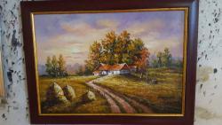 Picturi cu peisaje La apus