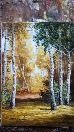Picturi cu peisaje spre toamna