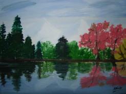 Picturi cu peisaje Trei anotimpuri