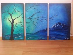 Picturi cu peisaje Suflet Nocturn