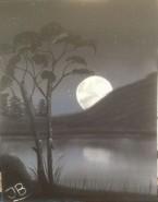 Picturi cu peisaje Moon scape