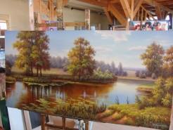 Picturi cu peisaje Feerii pe malul apei
