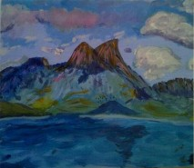 Picturi cu peisaje Arenig fawr 3