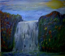 Picturi cu peisaje Icywaterfall