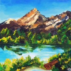 Picturi cu peisaje Priveliste de munte