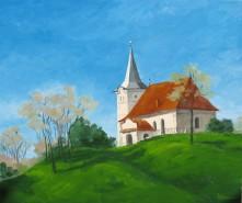 Picturi cu peisaje Inceput de toamna la zoltan