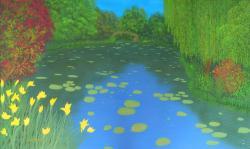 Picturi cu peisaje Gradina lui Monet