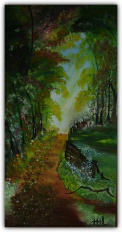 Picturi cu peisaje In inima padurii
