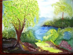 Picturi cu peisaje Linistea verii