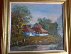 Picturi cu peisaje Casa de pe malul apei
