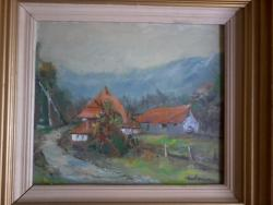 Picturi cu peisaje Casa sub munte