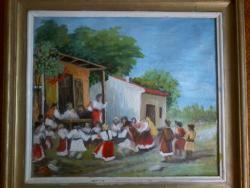 Picturi cu peisaje Hora de la Aninoasa