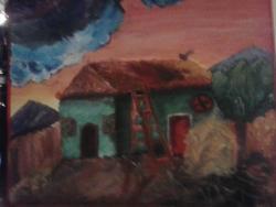 Picturi cu peisaje Casa la tara 232