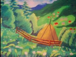Picturi cu peisaje Peisaj pe munte