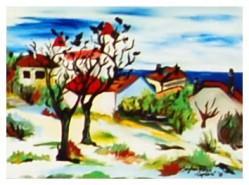 Picturi cu peisaje Copilarie
